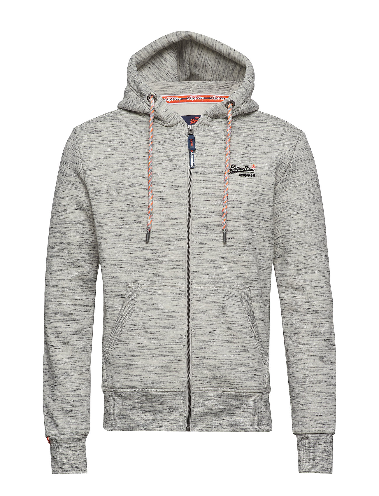 Superdry ORANGE LABEL CLASSIC ZIP HOOD - ASH GREY HEATHER