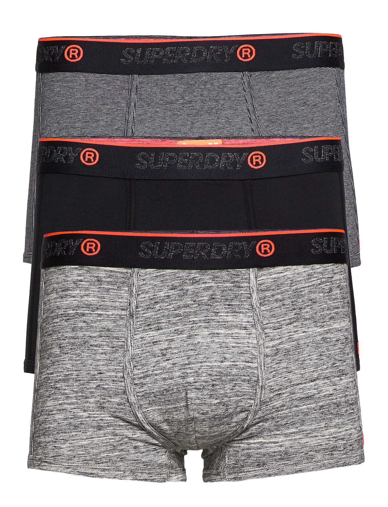 Superdry O.L SPORT TRUNK TRIPLE PACK - BLACK/BLACK FEEDER/FLINT GREY GRIT