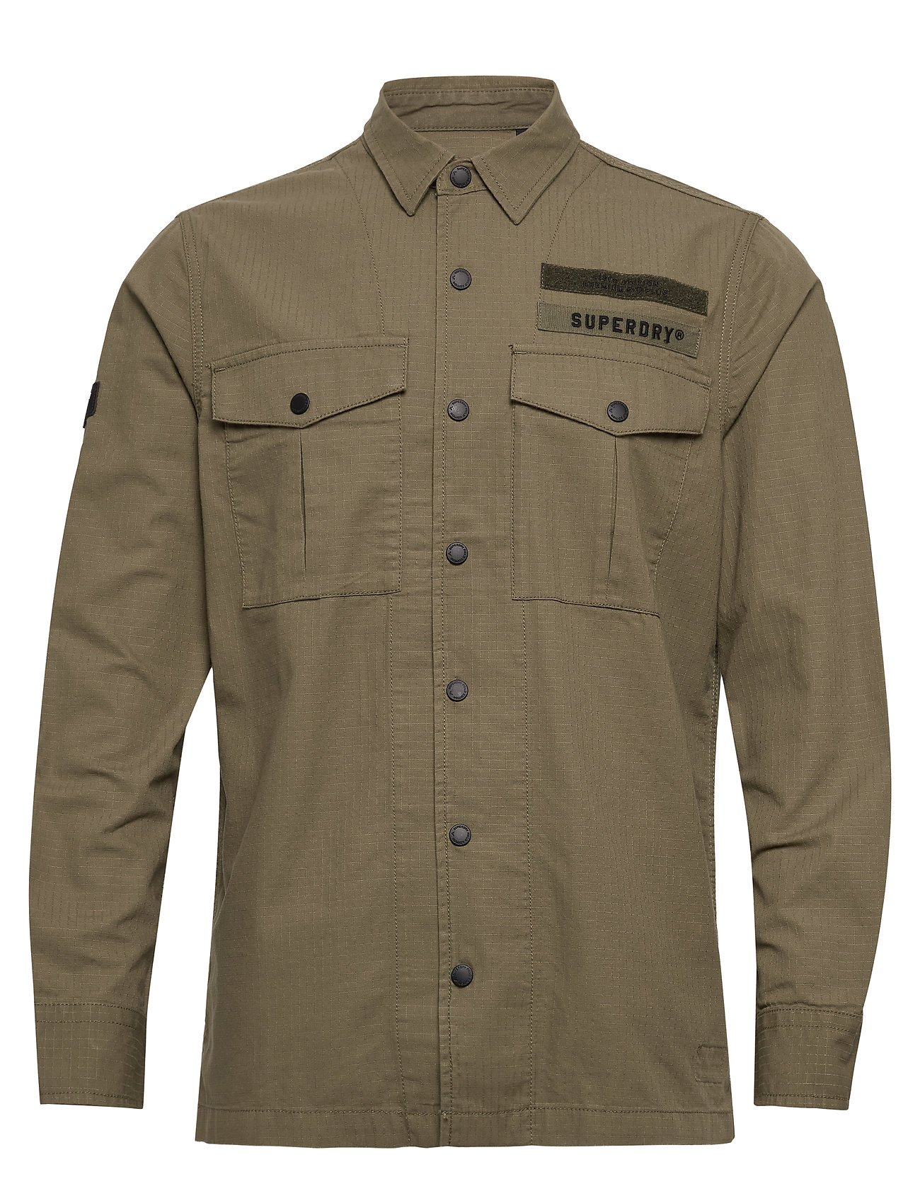 Superdry UTILITY FIELD EDITION L/S SHIRT - ARMY GREEN