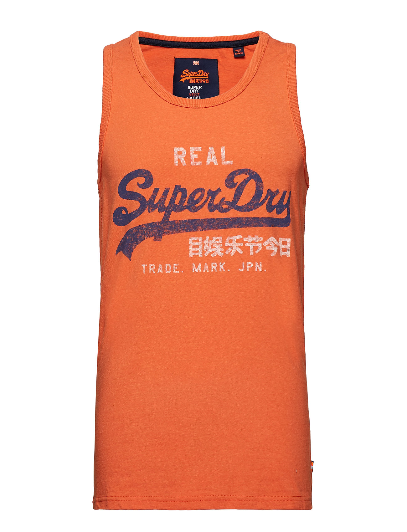 Vintage Logo Duo Entry Vest Tanktop Top Orange SUPERDRY