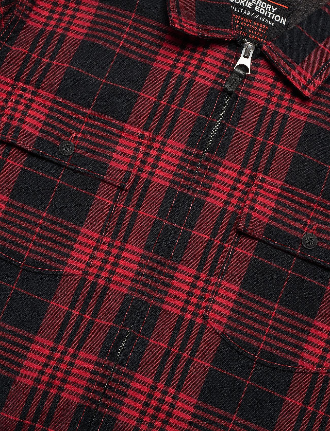 Rookie Harrington Shirt (Teton Red) (549.45 kr) - Superdry