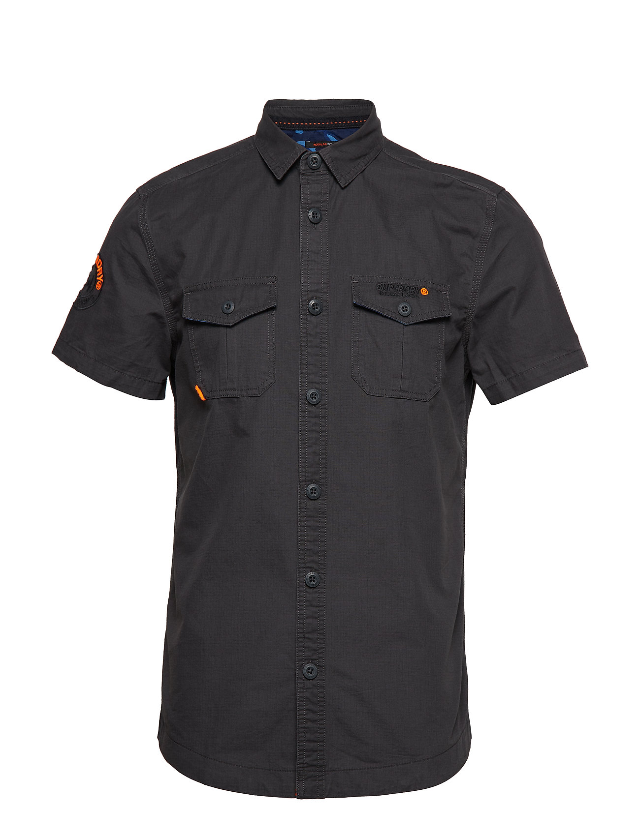 Superdry S/S ROOKIE PARACHUTE LITE SHIRT - WASHED BLACK