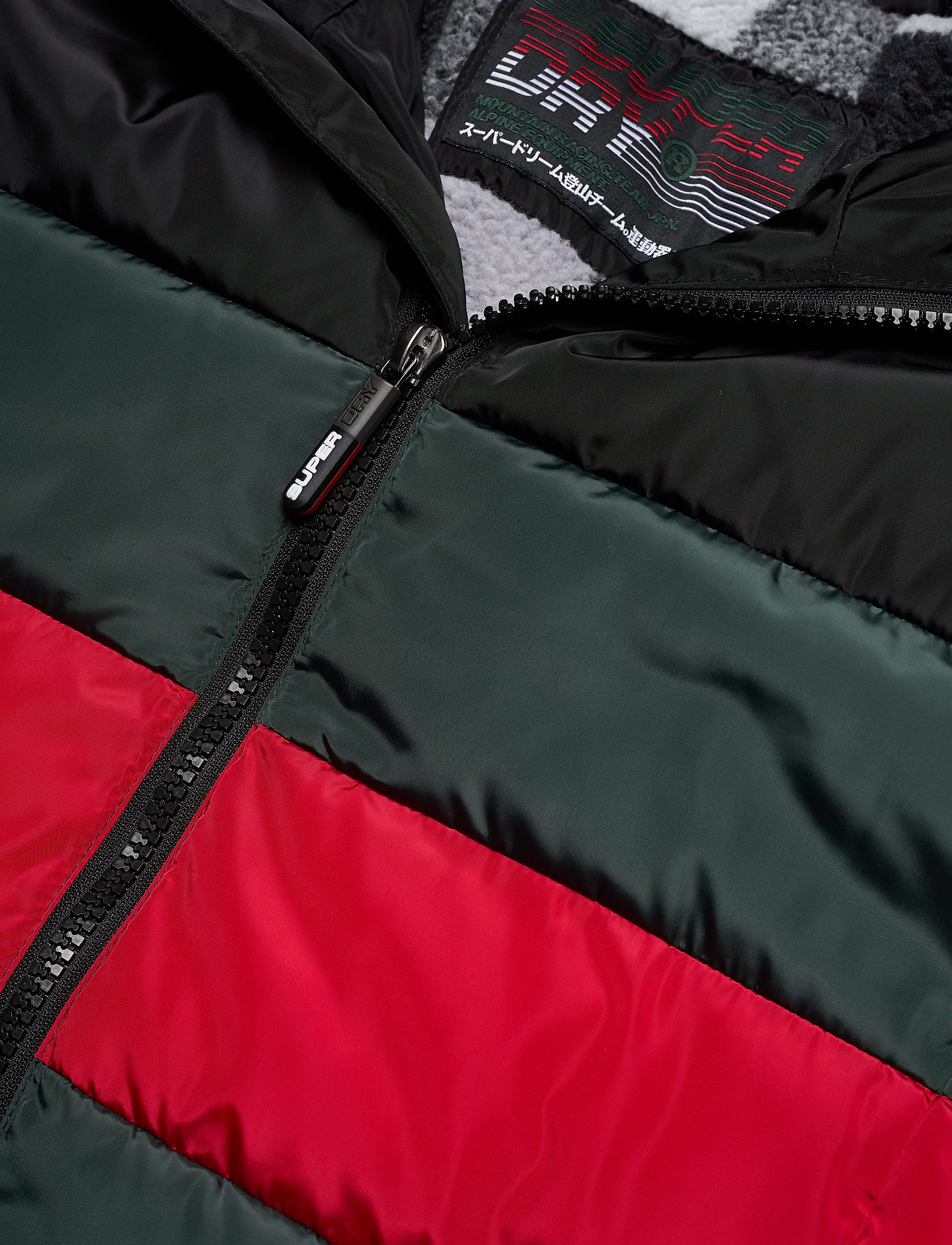 Colour Stripe Sports Puffer (Dark Forest) (77.99 €) - Superdry LhESo