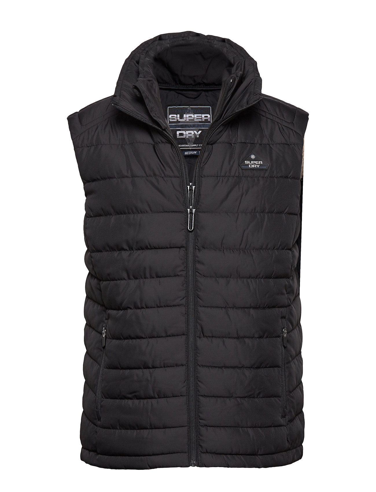 Superdry DOUBLE ZIP FUJI GILET - JET BLACK
