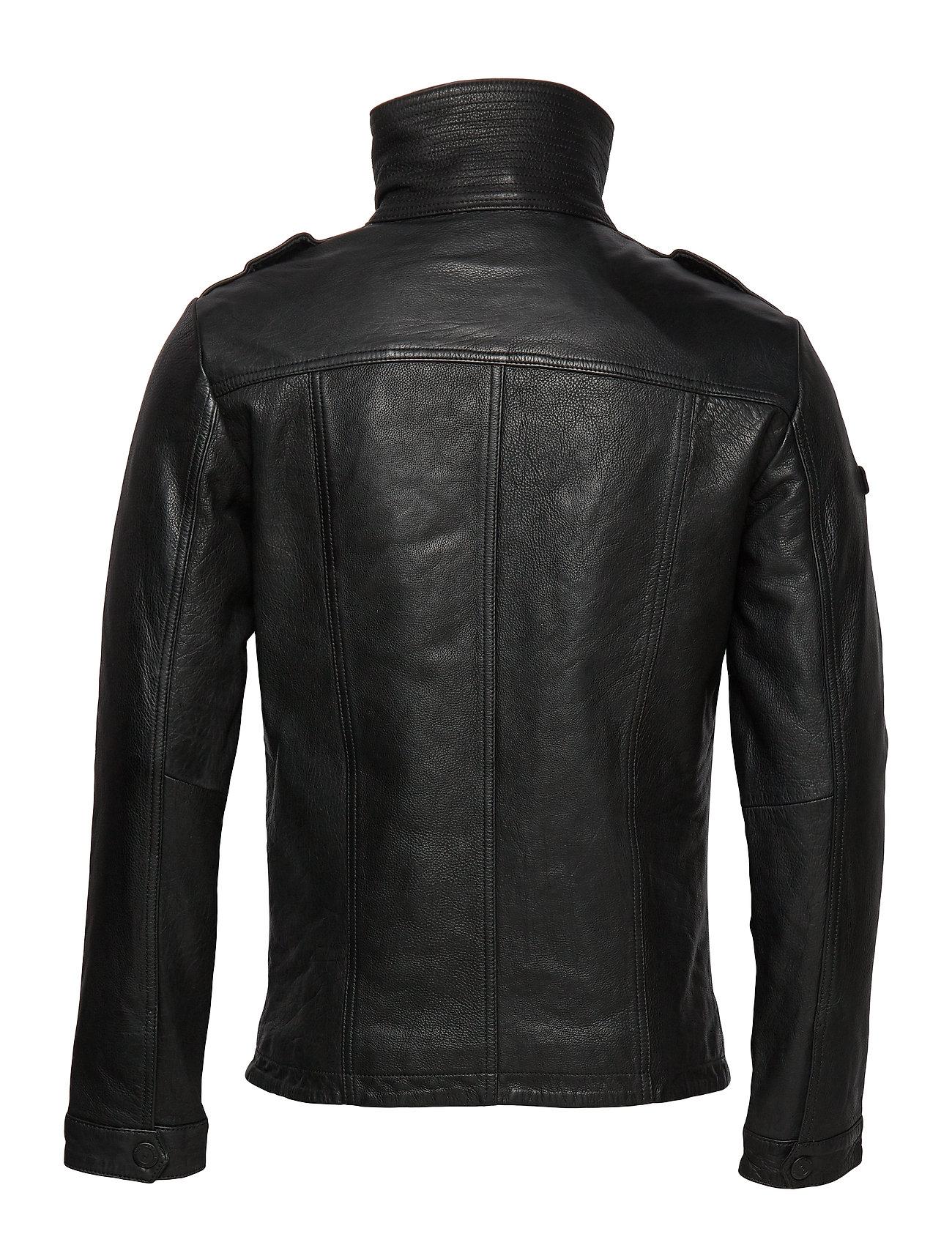 25% Sale Icon Brad Leather Jacket Lederjacke Schwarz