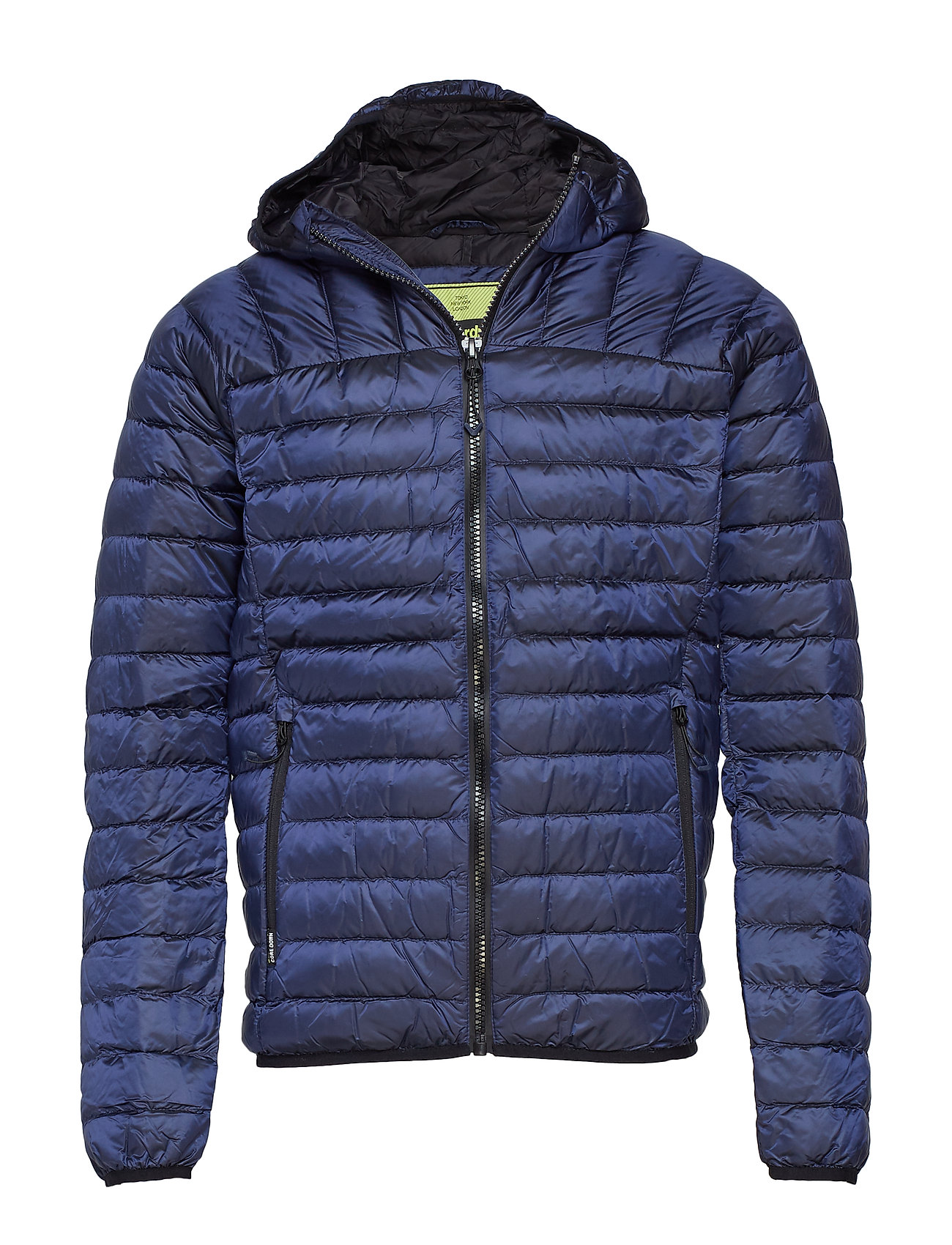 Superdry CORE DOWN HOODED JACKET - NAVY