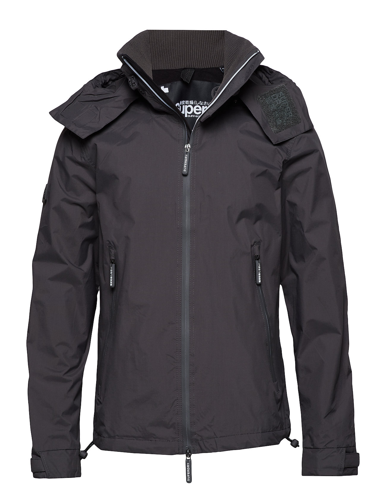 Superdry HOODED POLAR CLIFF HIKER NB - MID GREY/BLACK