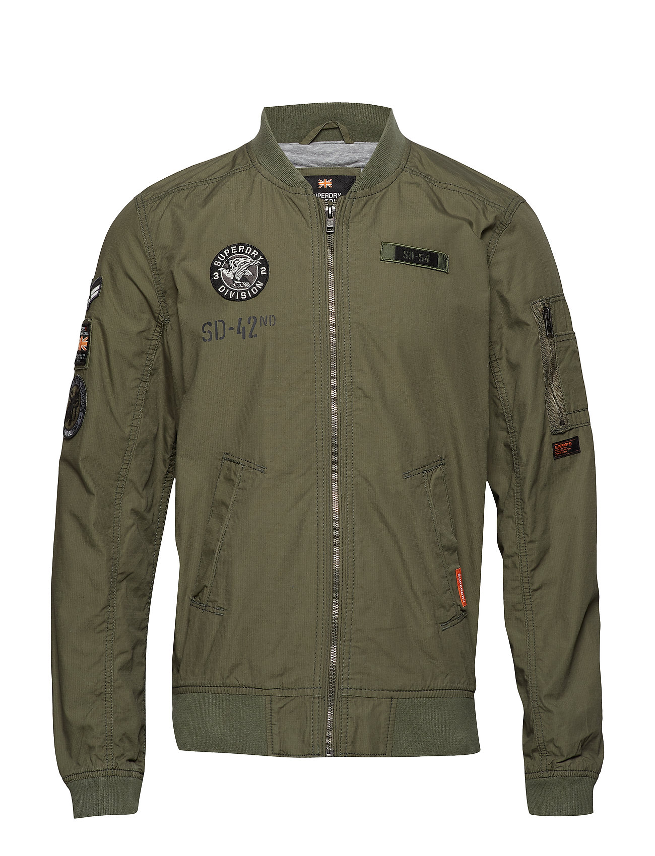 Superdry ROOKIE AVIATOR PATCHED BOMBER - WASHED SAGE