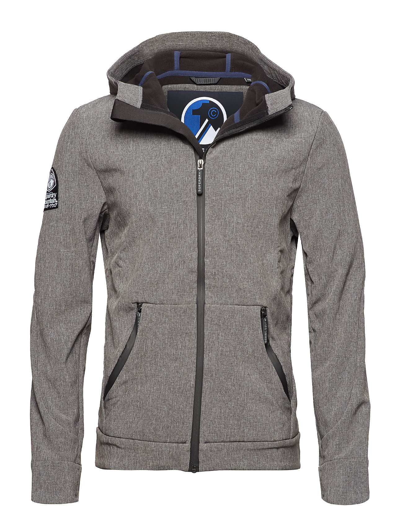 Superdry MOUNTAINEER SOFTSHELL - CHARCOAL CATIONIC/BLACK