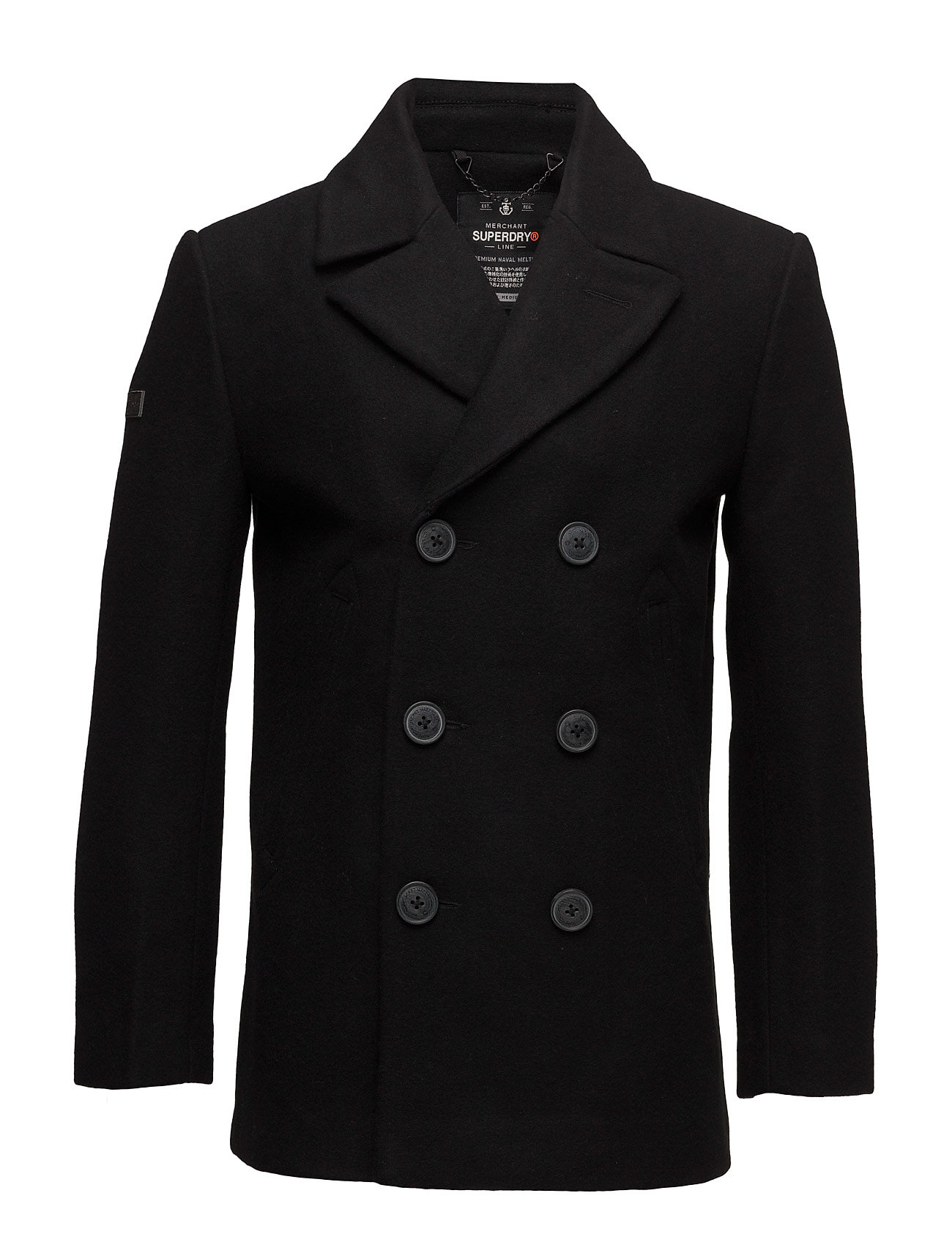 Superdry ROOKIE MERCHANT LINE PEACOAT - BLACK