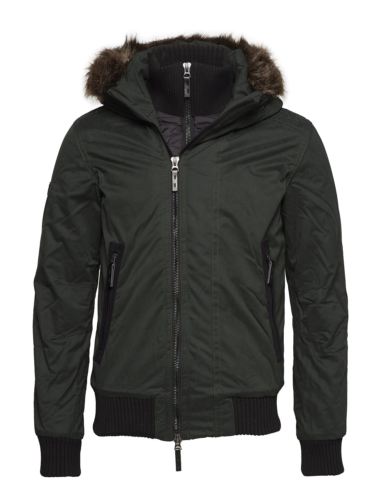 Superdry MICROFIBRE WIND BOMBER - IVY GREEN