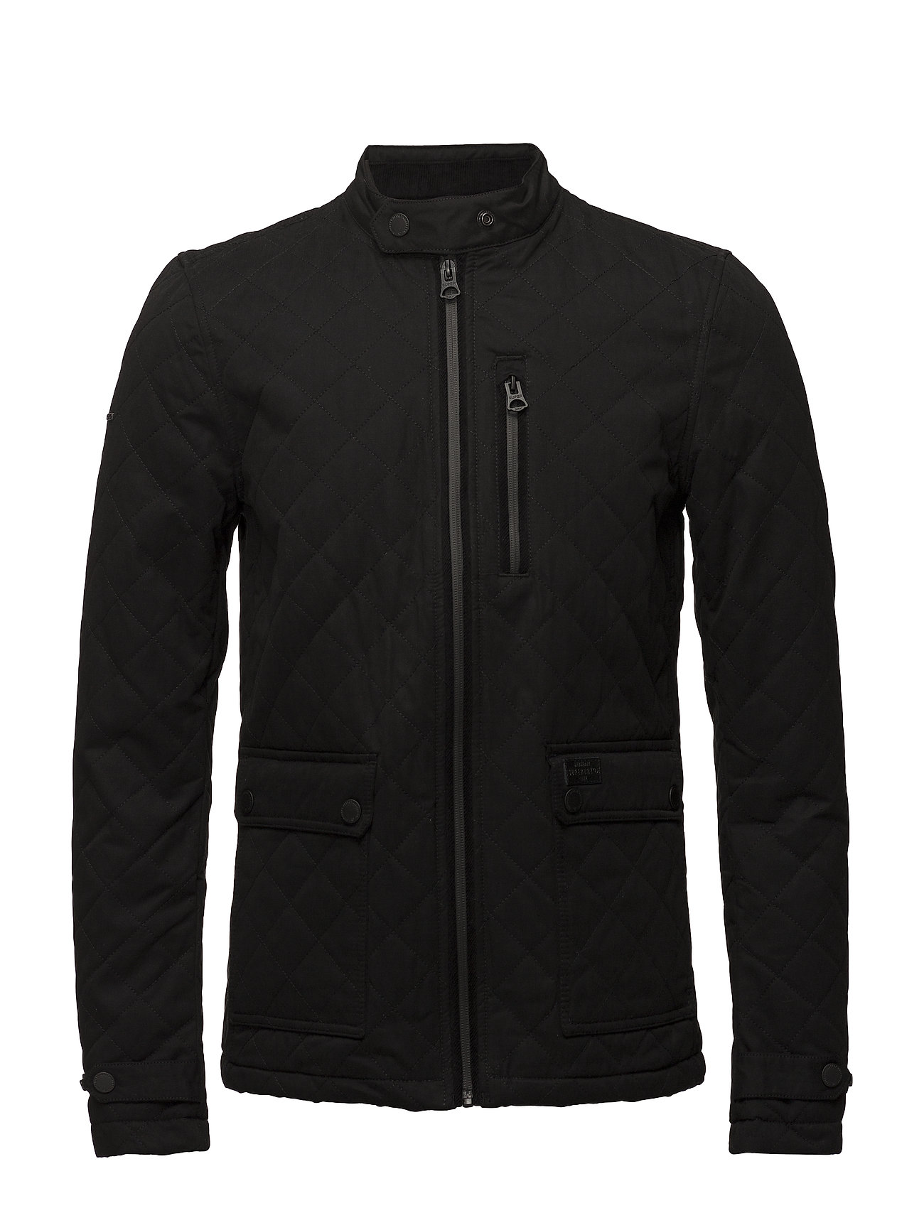 Superdry CITY MICROFIBRE QUILT JACKET - BLACK