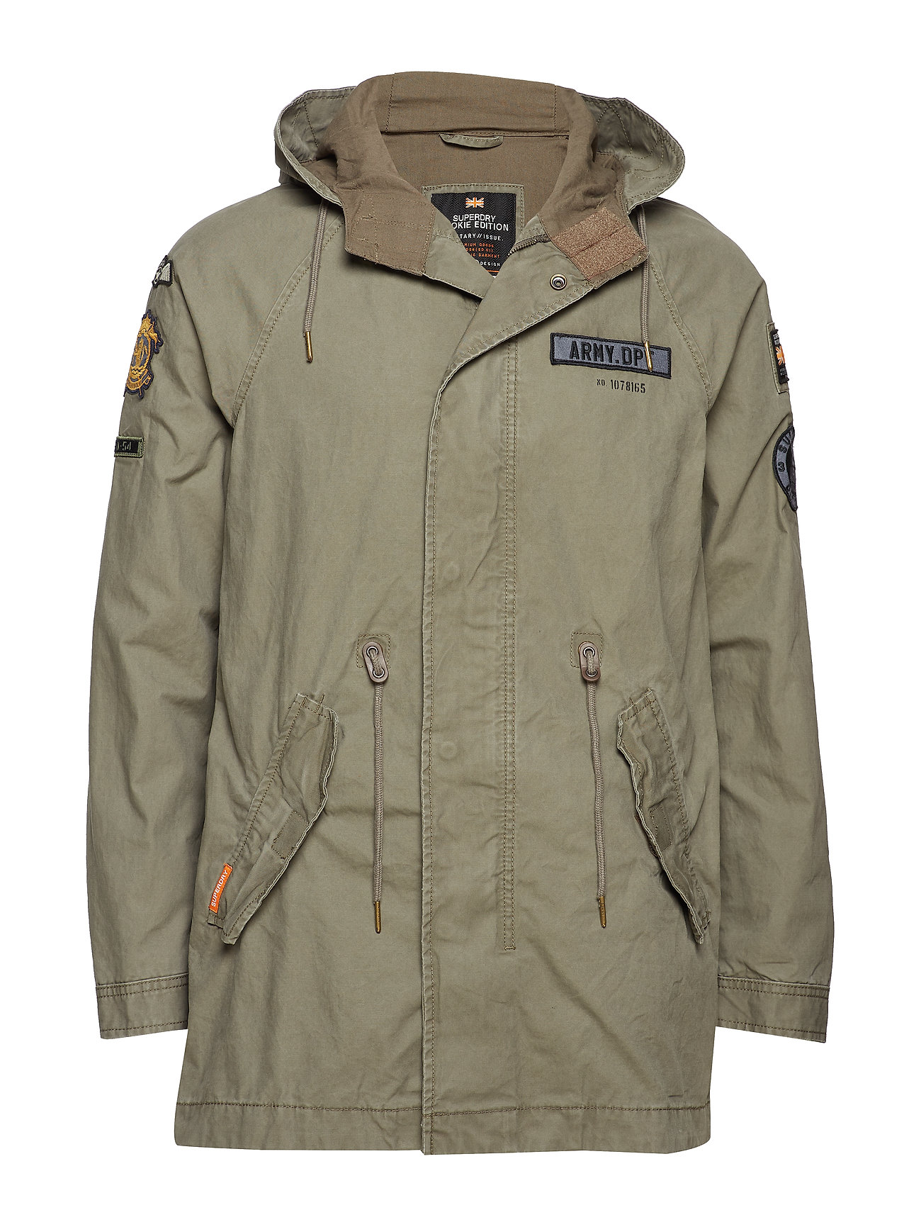 Superdry ROOKIE AVIATOR PATCHED PARKA - AGED OLIVE