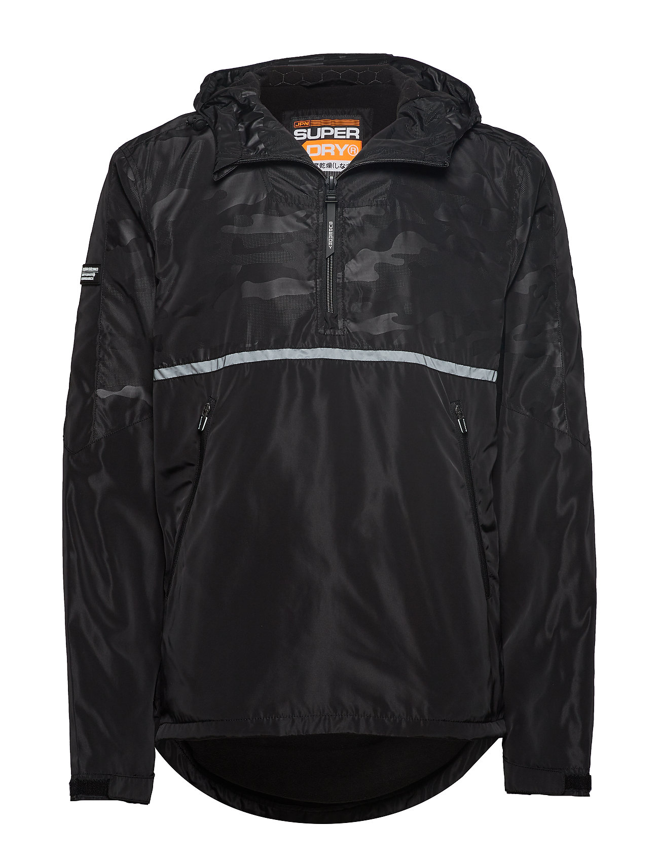 Superdry BASS CORE OVERHEAD CAGOULE - BLACK