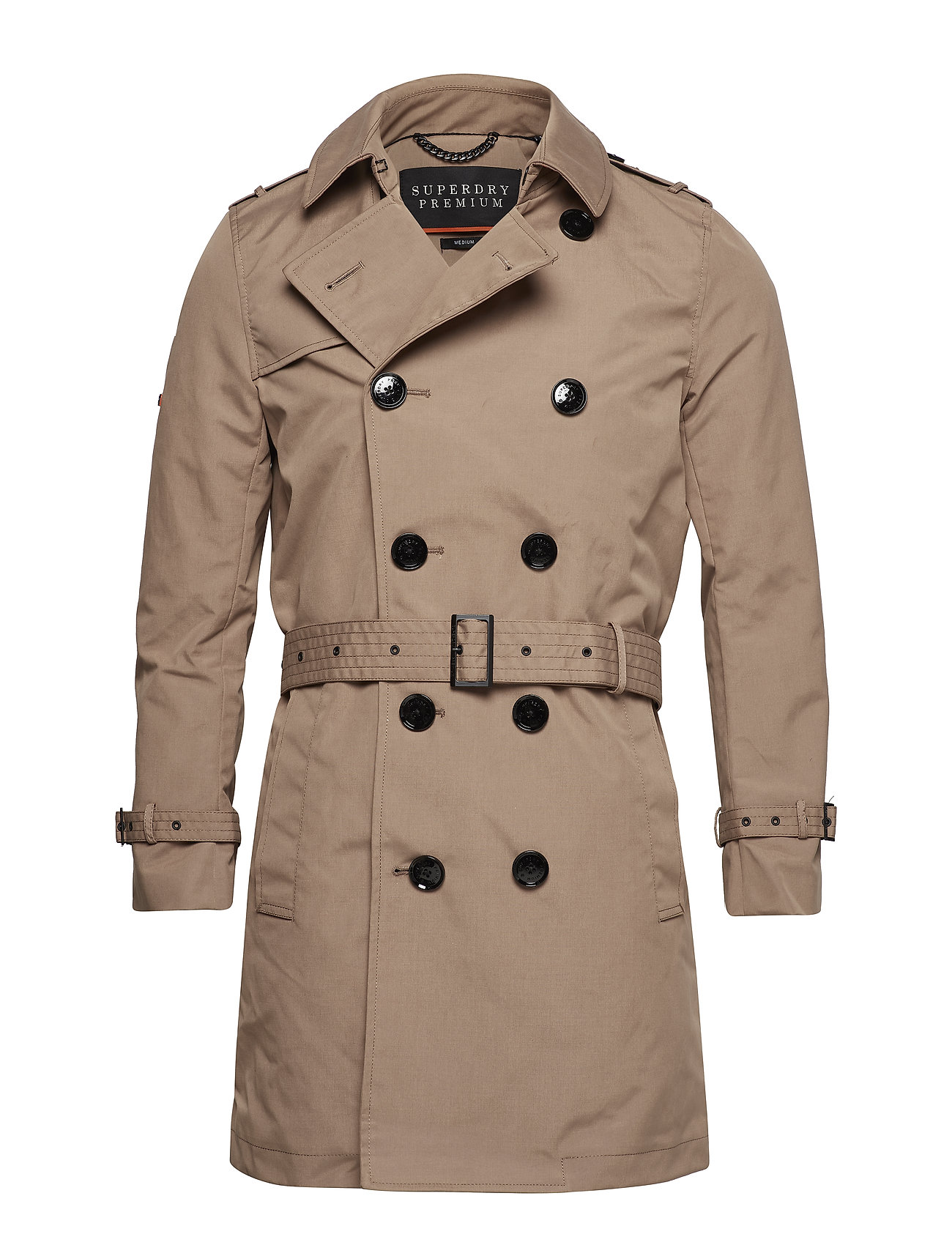 Superdry DIRECTOR TRENCH - BURNT UMBER