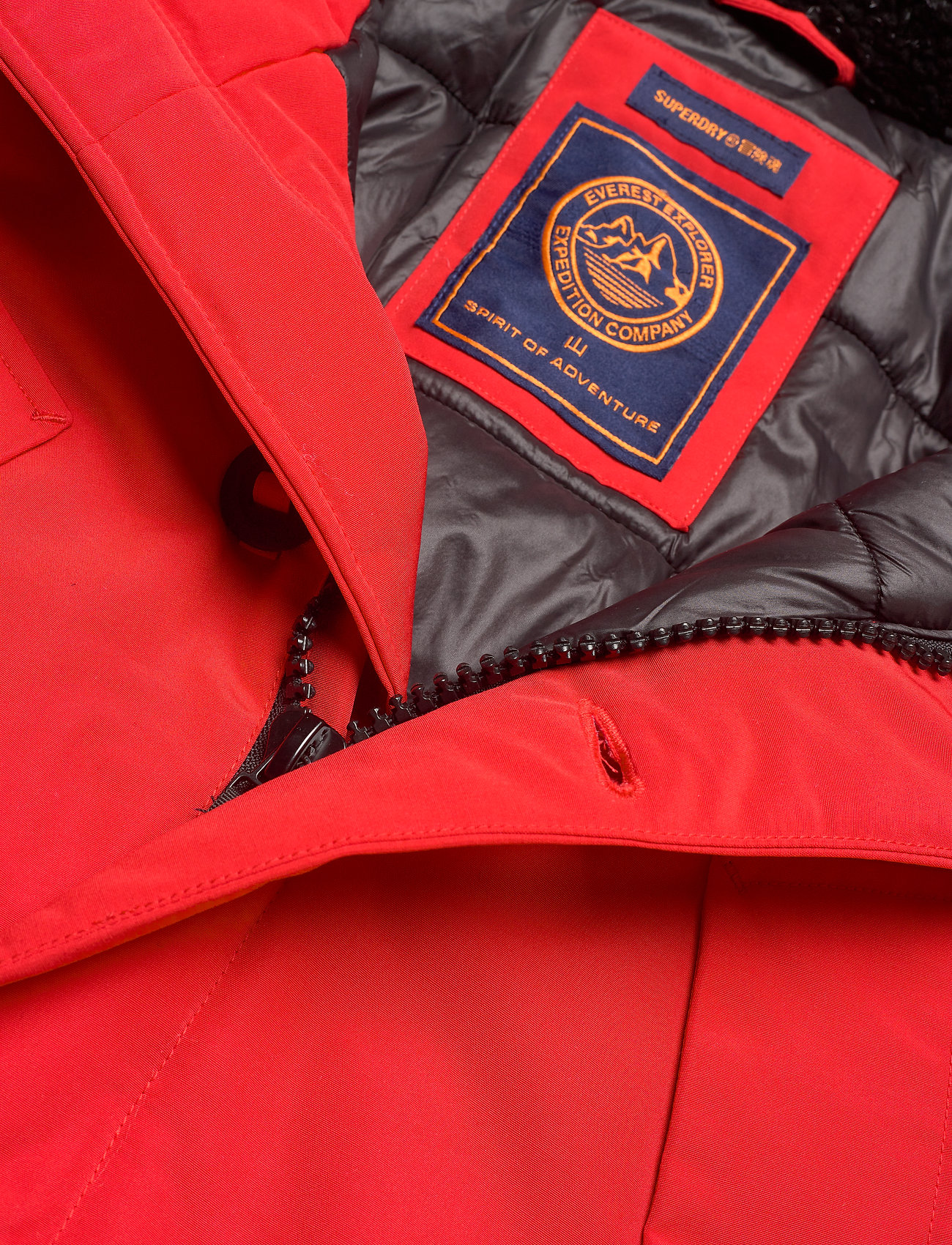 Superdry Everest Parka - Jakker og frakker HIGH RISK RED - Menn Klær