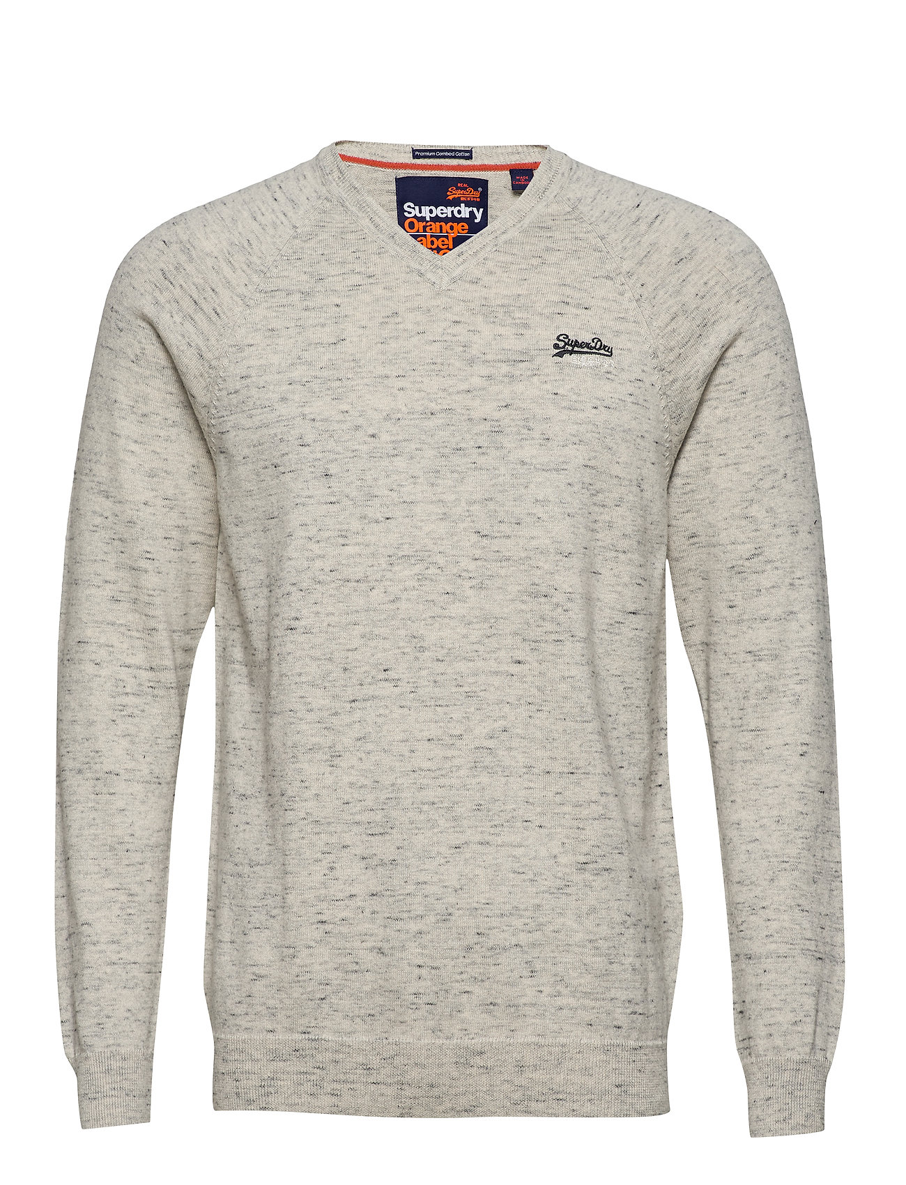 Superdry ORANGE LABEL COTTON VEE - ALASKA GREY GRINDLE