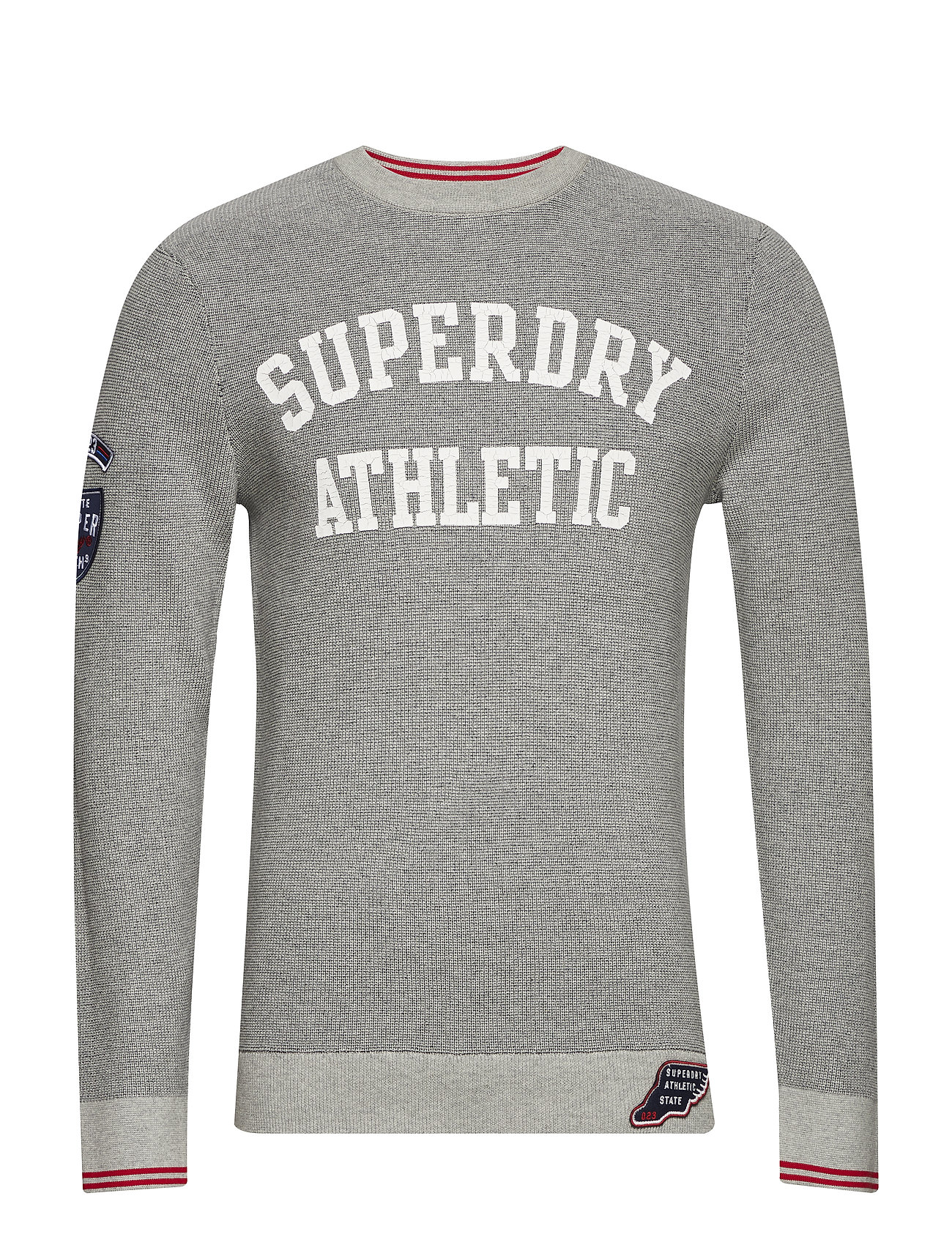 Superdry TRACK SQUAD CREW - GREY MARL/NAVY