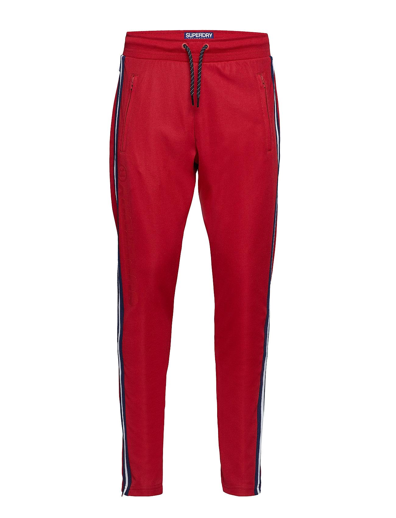 Superdry LINEMAN SLIM SPRINT JOGGER - TRACK RED