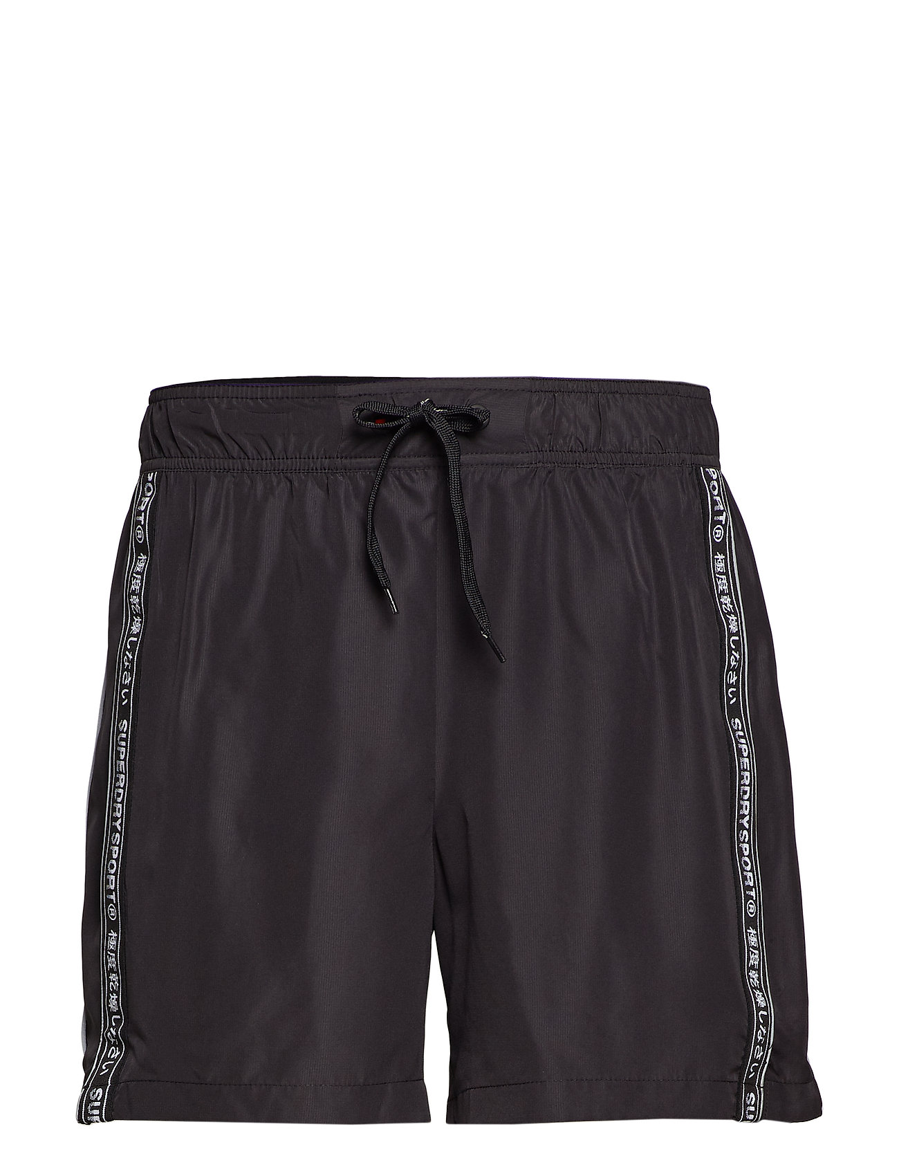 Superdry ACTIVE LOGO TAPED SHORT - BLACK