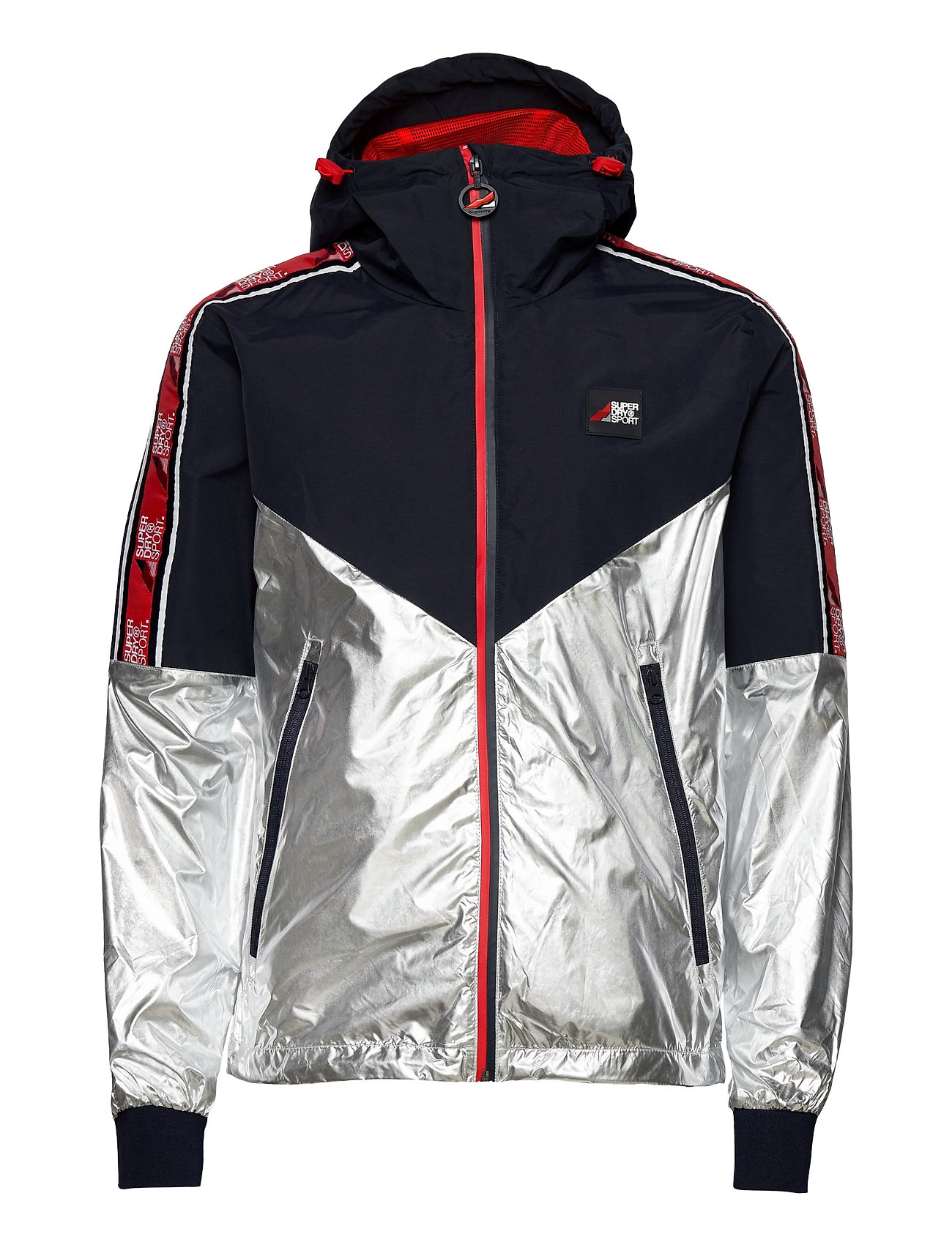 SUPERDRY Sportoberteile | Sport Stripe Chrome Cagoule Dünne Jacke Blau SUPERDRY
