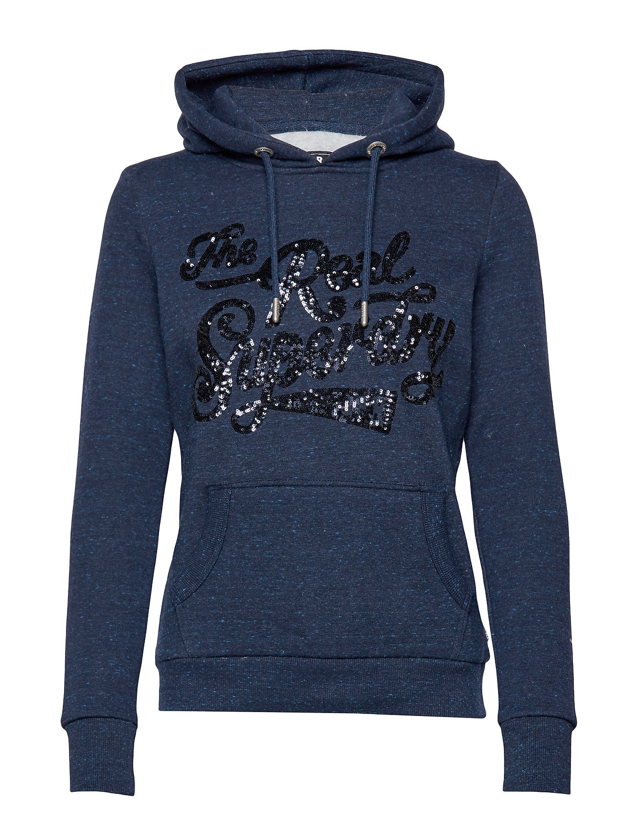 Superdry THE REAL TONAL SEQUIN ENTRY HOOD - RUGGED NAVY
