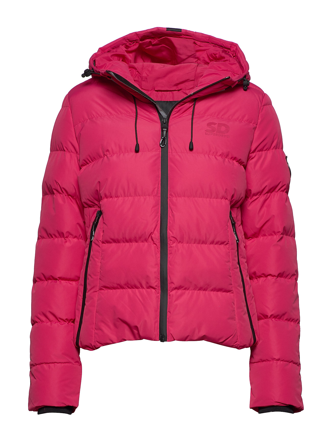 Superdry SPIRIT PUFFER ICON JACKET - ROSE RED