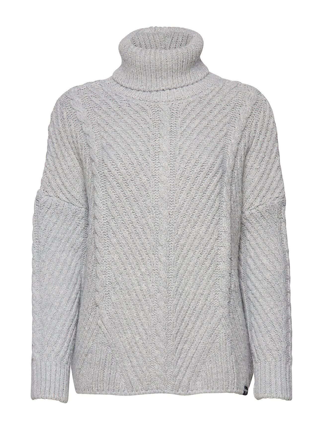 Superdry TORI CABLE CAPE KNIT - GREY MARL