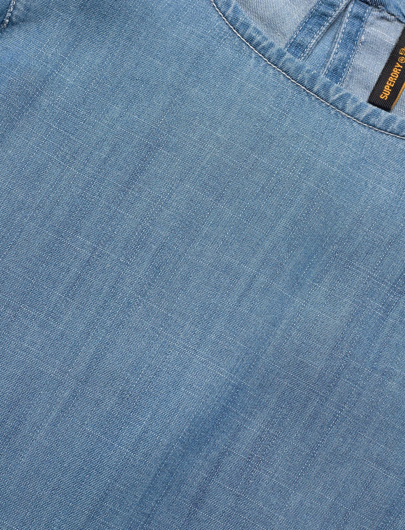 Superdry - TENCEL TSHIRT DRESS - midi dresses - light wash - 2
