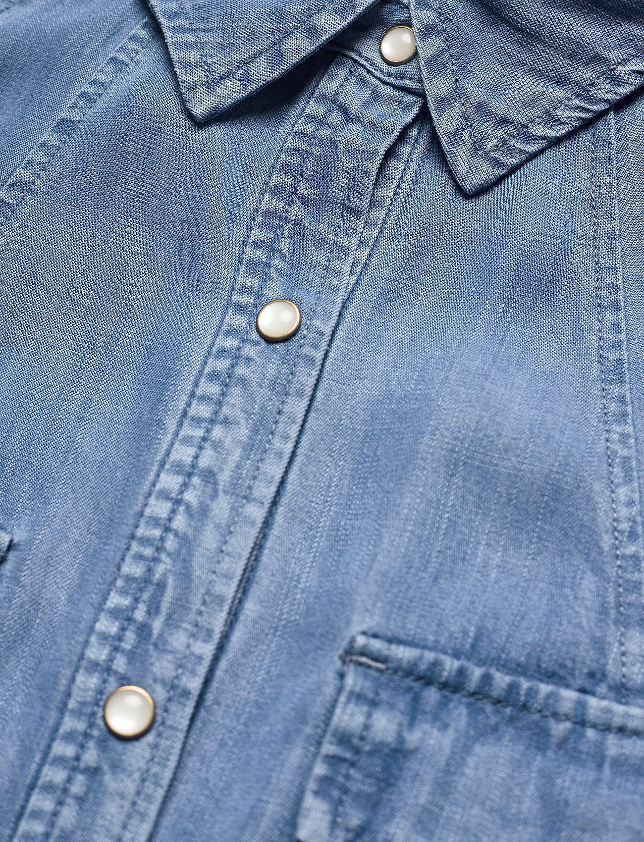 Superdry - TENCEL OVERSIZED SHIRT DRESS - everyday dresses - mid wash - 2