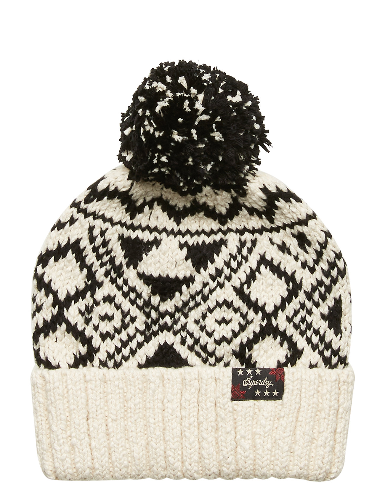 Image of Rodeo West Textred Beanie Accessories Headwear Beanies Creme Superdry (3528662433)