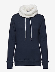 Superdry - ZINNIA SHERPA FUNNEL SWEAT - sweatshirts - nightsky navy rugged - 0