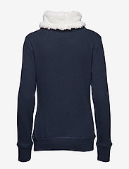 Superdry - ZINNIA SHERPA FUNNEL SWEAT - sweatshirts - nightsky navy rugged - 1