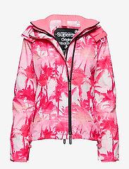 Superdry - BLACK EDITION WINDCHEATER - lichte jassen - pink pastel palm/silver/neon pink - 0