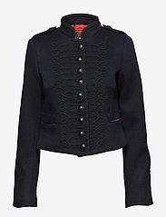 Superdry - CROPPED DUCHESS WOOL JKT - wełniane kurtki - black - 0