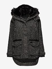 Superdry - FJORD OVOID PARKA - parka coats - grey twill boucle - 0