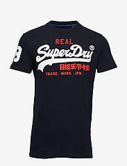 Superdry - VINTAGE LOGO TRI TEE - short-sleeved t-shirts - eclipse navy - 0