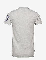 Superdry - CORE SPLIT LOGO TEE - kortermede t-skjorter - collective light marl - 1