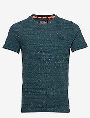Superdry - Ol Vintage Embroidery Tee - perus t-paidat - deep teal space dye - 0
