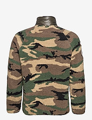 Superdry - MOUNTAIN SHERPA CAMO TRACK TOP - mid layer jackets - camo/cool olive - 1