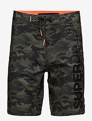 Superdry - DEEP WATER BOARD SHORT - board shorts - khaki camo aop - 0