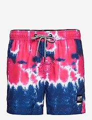 Superdry - TIE-DYE VOLLEY SWIM SHORT - shorts de bain - pink tie dye - 0