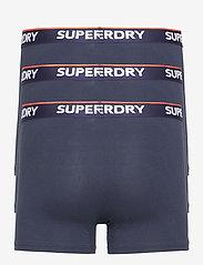 Superdry - CLASSIC BOXER TRIPLE - caleçon - richest navy/richest navy/richest navy - 1