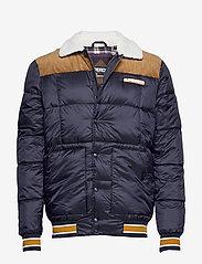 Superdry - DOWNHILL RACER BOX QUILT JKT - padded jackets - true navy - 0