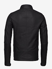 Superdry - PREMIUM LEATHER RACER JACKET - lederjacken - black - 1