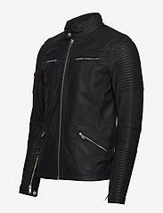 Superdry - PREMIUM LEATHER RACER JACKET - lederjacken - black - 2