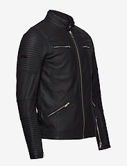 Superdry - PREMIUM LEATHER RACER JACKET - lederjacken - black - 3
