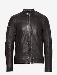 Superdry - Light Leather Racer - lederjacken - dark brown - 0