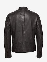 Superdry - Light Leather Racer - lederjacken - dark brown - 1