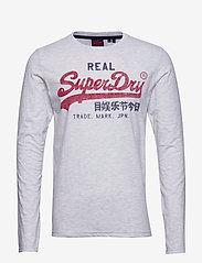 Superdry - Vl Premium Goods Ls - pitkähihaiset - ice marl - 0